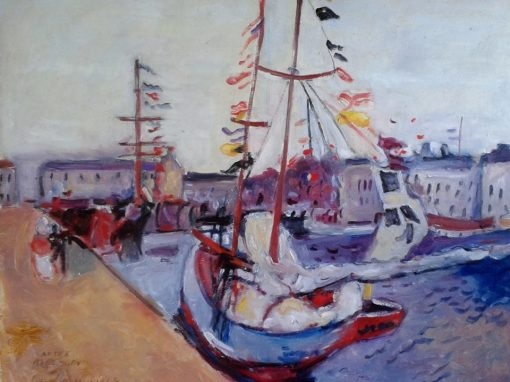 Harbour, homage to Dufy