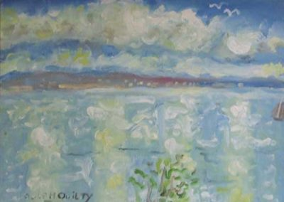 Galway Bay from the artists home, Doorus, Kinvara