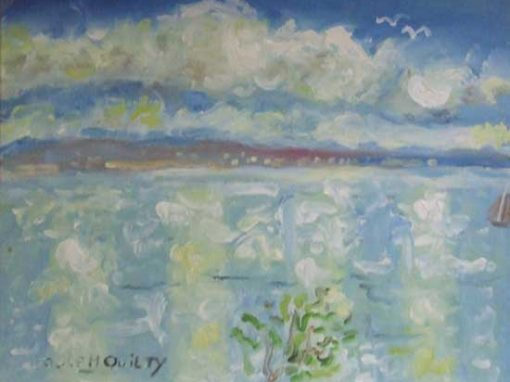 Galway Bay from the artists home, Doorus, Kinvara