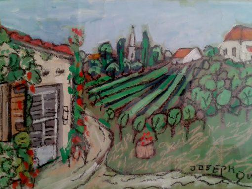 l'Enclos with Thenac church, Dordogne