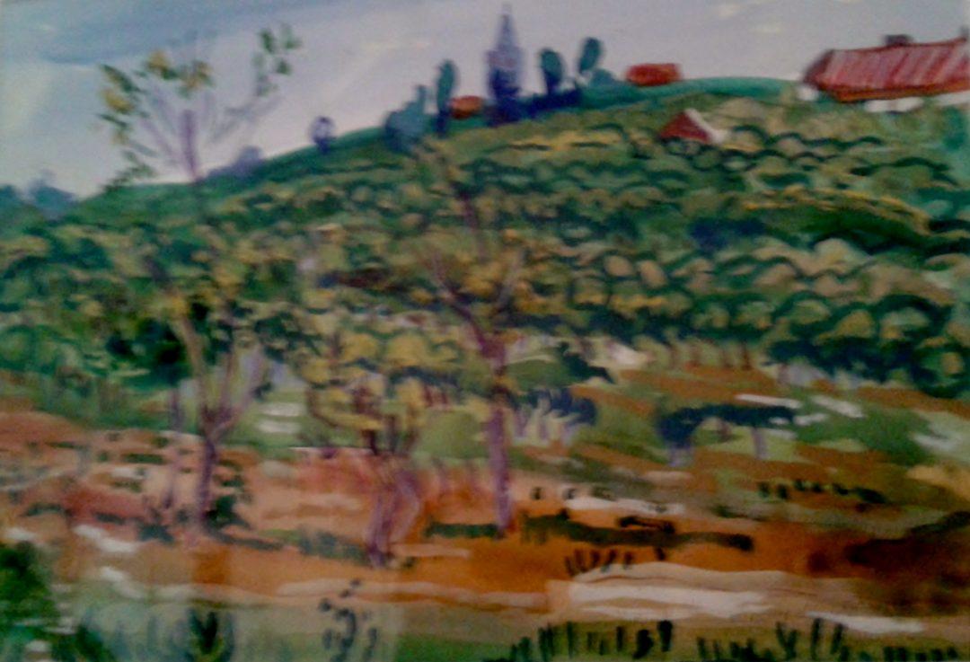 Among the vines, Thenac