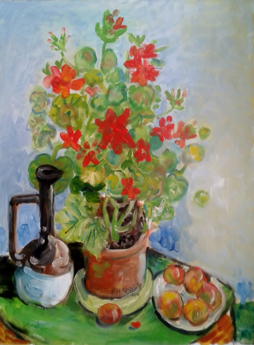 Still life with geranium