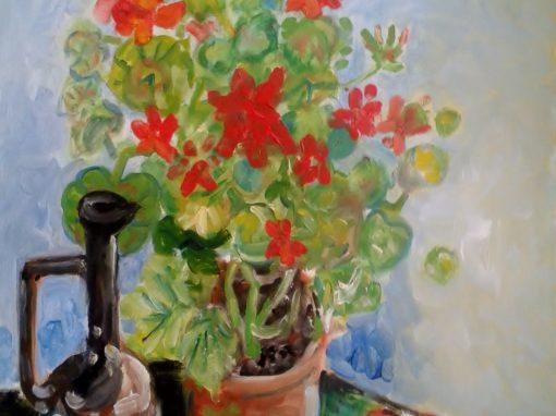 Still life with geranium