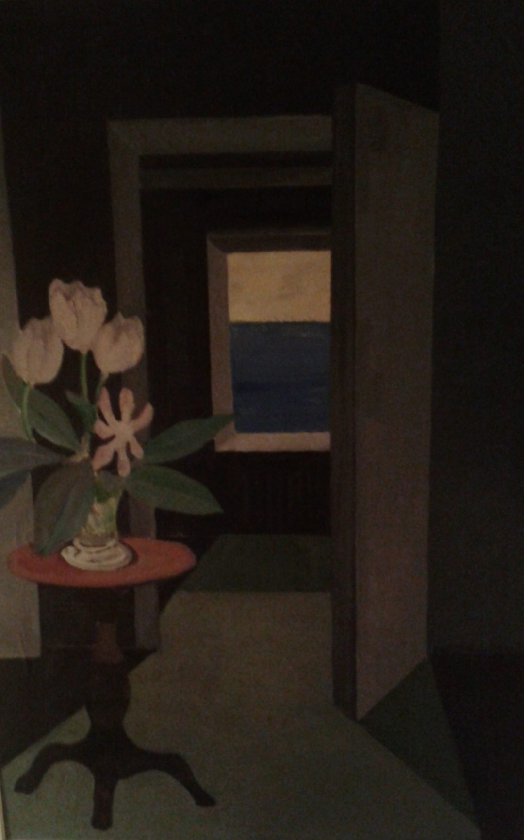 Still life in dark room