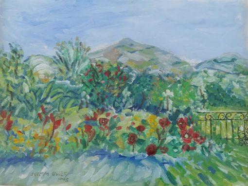 Abbey hill, Burren from the artist's garden