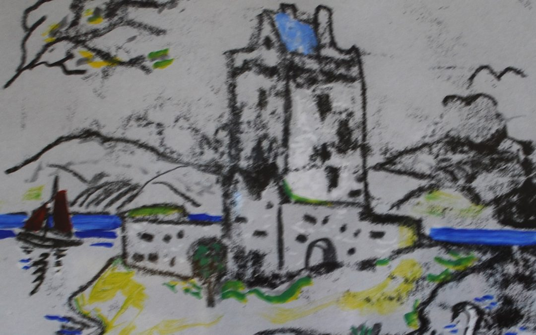 Dun Guaire Castle, Kinvara: exhibition poster