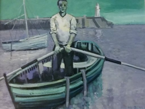 Man with boat