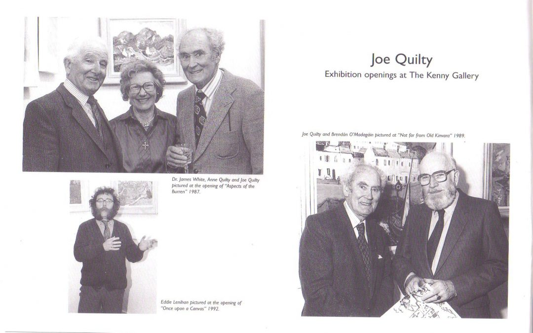 Prof. Brendan Madigan, James White, Eddie Lenihan; each opened Joe Quilty exhibitions