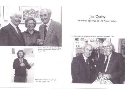 Prof. Brendan Madigan, James White, Eddie Lenihan; each opened Joe Quilty exhibitions