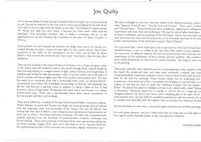 Tom Kenny on Joe Quilty